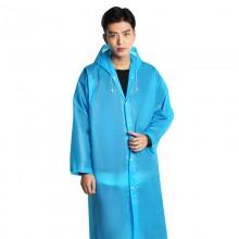 Дождевик мужской. EVA (оригинал) - универсальный дорожный плащ от дождя - голубой