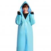 Дождевик женский. EVA (оригинал) - универсальный дорожный плащ от дождя - голубой