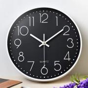 Часы настенные бесшумные Losso Premium - Черные