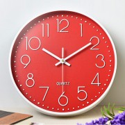 Часы настенные бесшумные Losso Premium - Красные