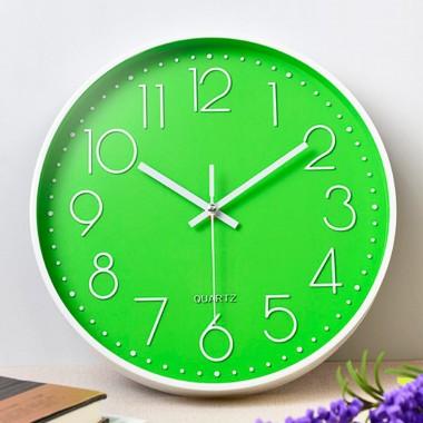 Часы настенные бесшумные Losso Premium - Зеленые