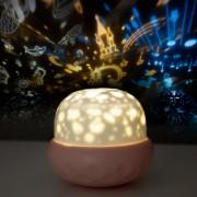 """Проектор звездного неба Losso - детский ночник """"Грибок"""" розовый"""