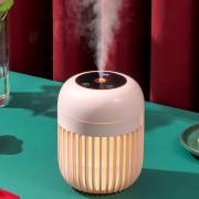 """Увлажнитель воздуха - ночник """"Дыхание света"""" LOSSO LJH-031 аккумуляторный, USB диффузор розовый"""