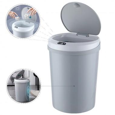 Ведро для мусора сенсорное автоматическое LOSSO LS-12 серое, 12 л