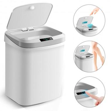 Ведро для мусора сенсорное автоматическое LOSSO LS-15 белое, 15 л