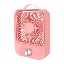 Вентилятор настольный бесшумный аккумуляторный LOSSO LJQ-119 розовый