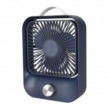 Вентилятор настольный бесшумный аккумуляторный LOSSO LJQ-119 синий