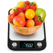 Весы кухонные электронные Losso Premium CX - 10 кг с подсветкой - чёрные