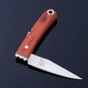 Нож садовый прививочный складной с деревянной ручкой HC-100 PRO